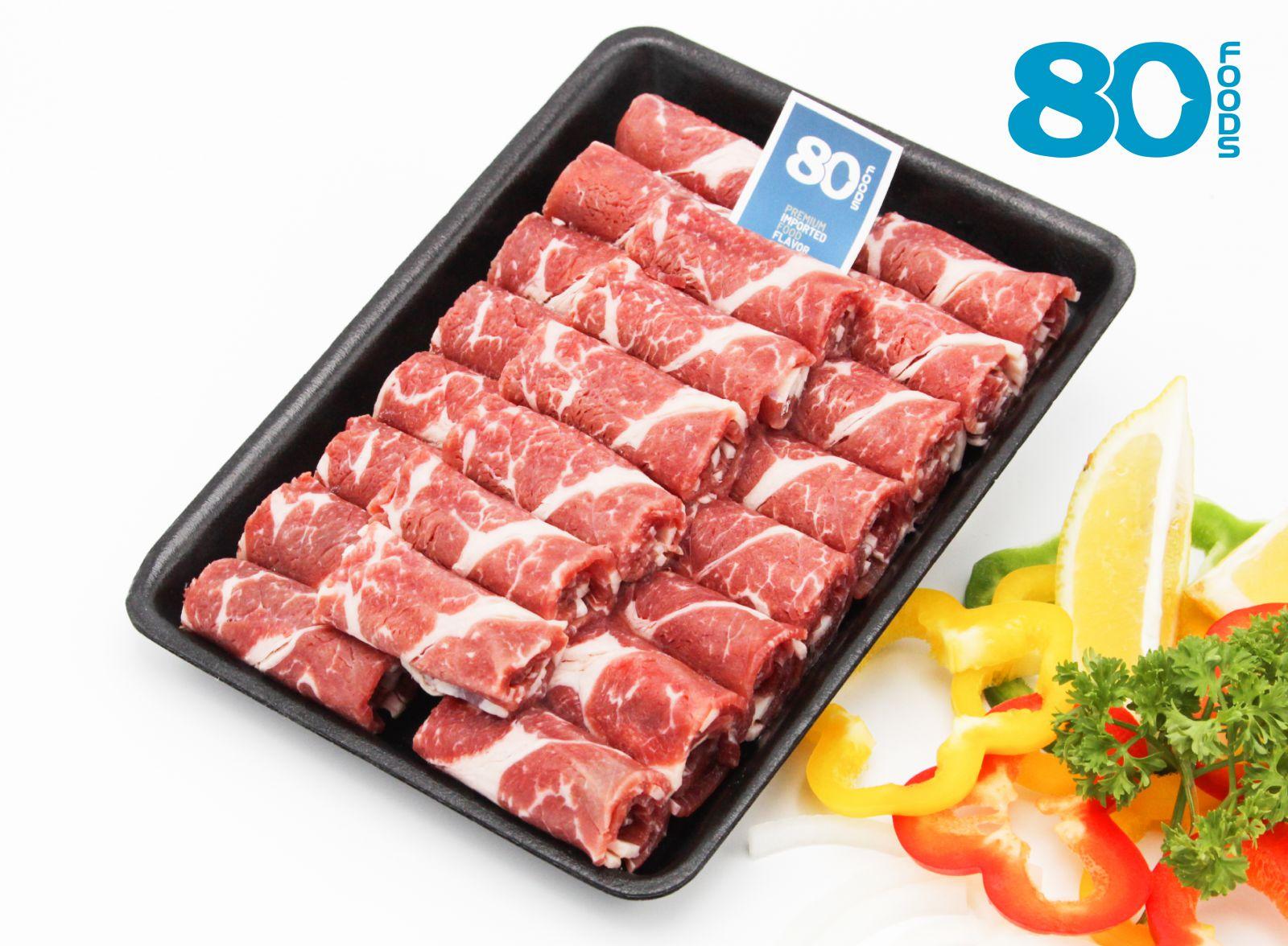 Nạc vai bò Mỹ lát mỏng (500gram)