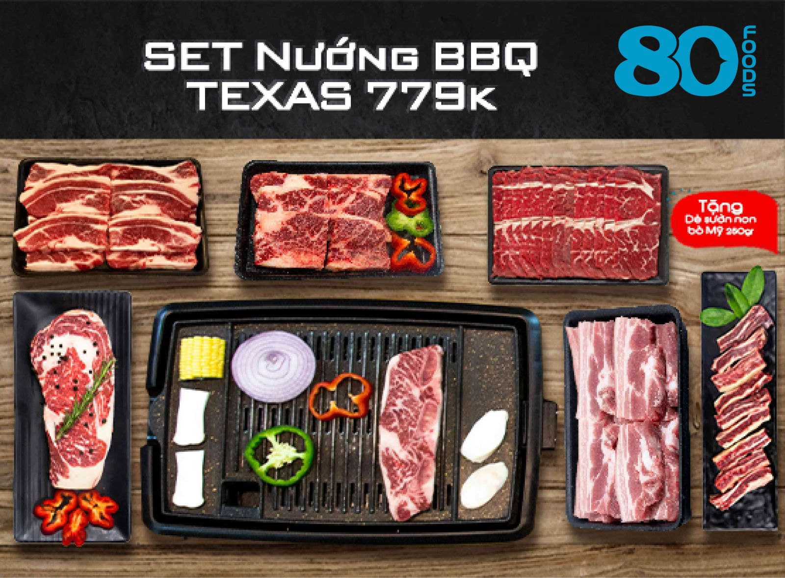 SET NƯỚNG BBQ TEXAS (1,6kg)