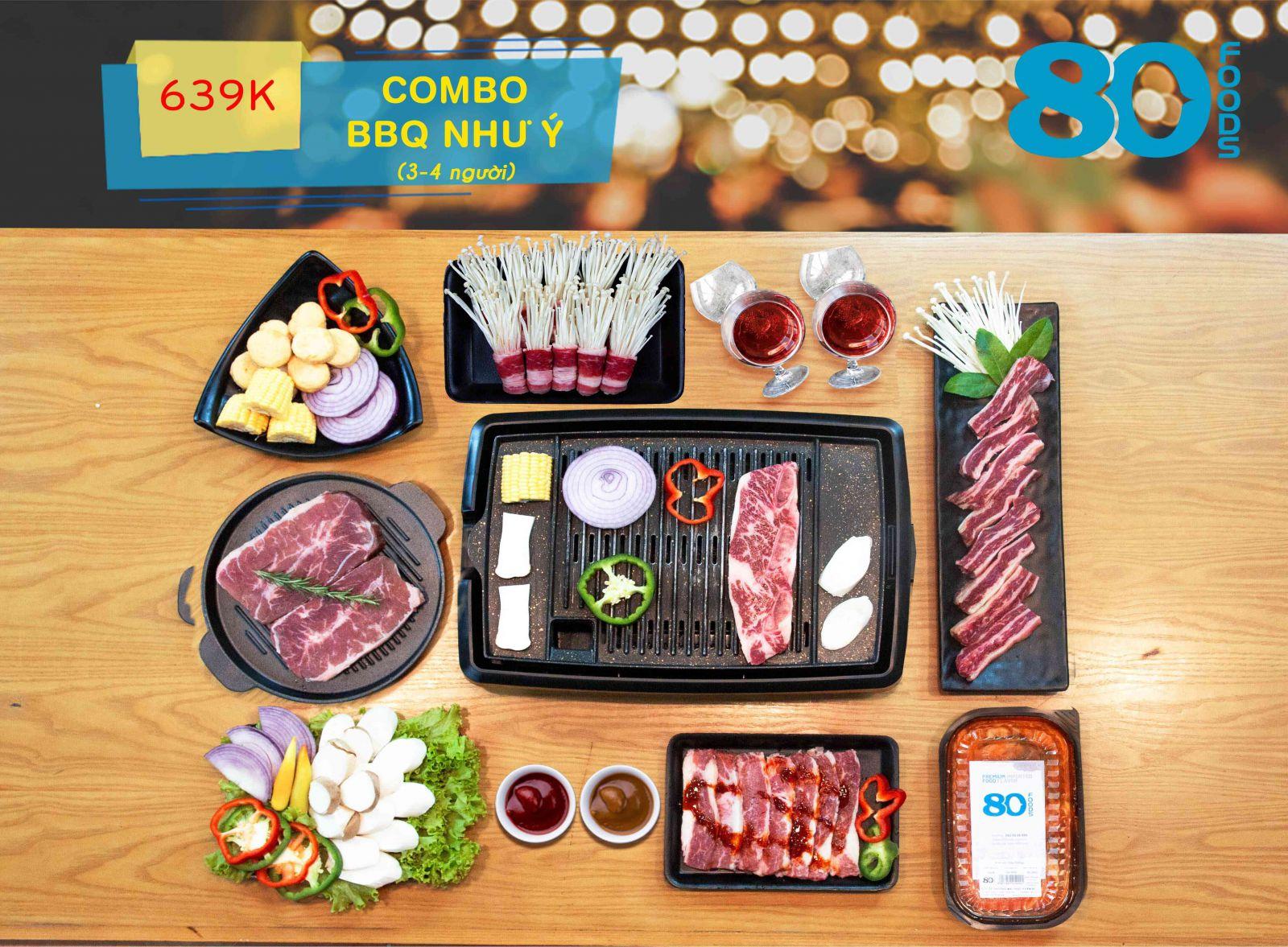 COMBO BBQ NHƯ Ý (3-4 NGƯỜI)