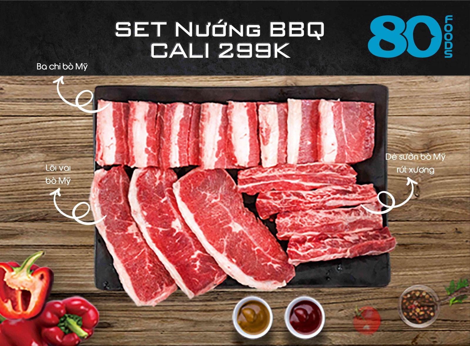 SET NƯỚNG BBQ CALI (750G)