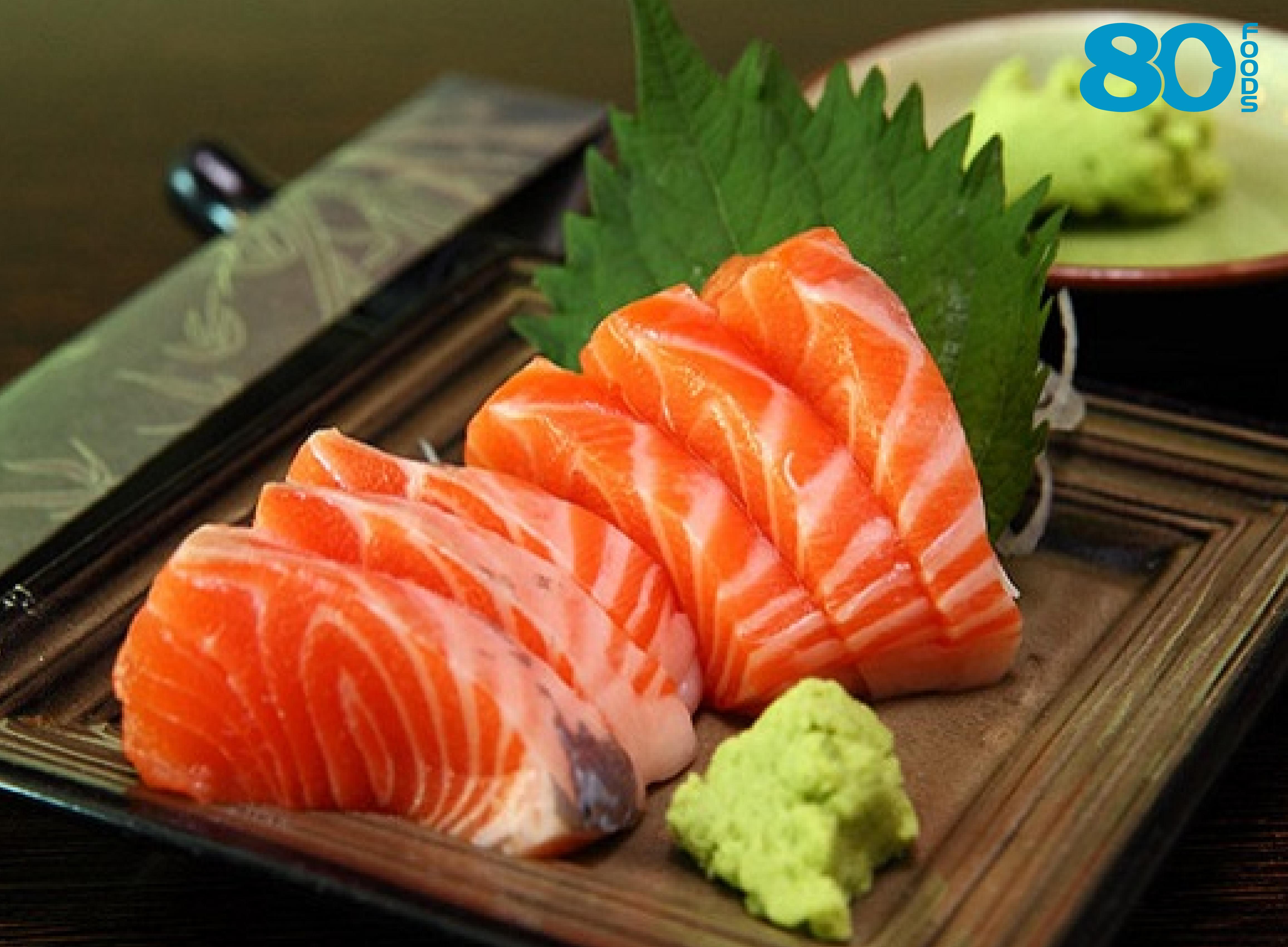 Sashimi cá hồi chuẩn Nhật Bản - 80FOODS